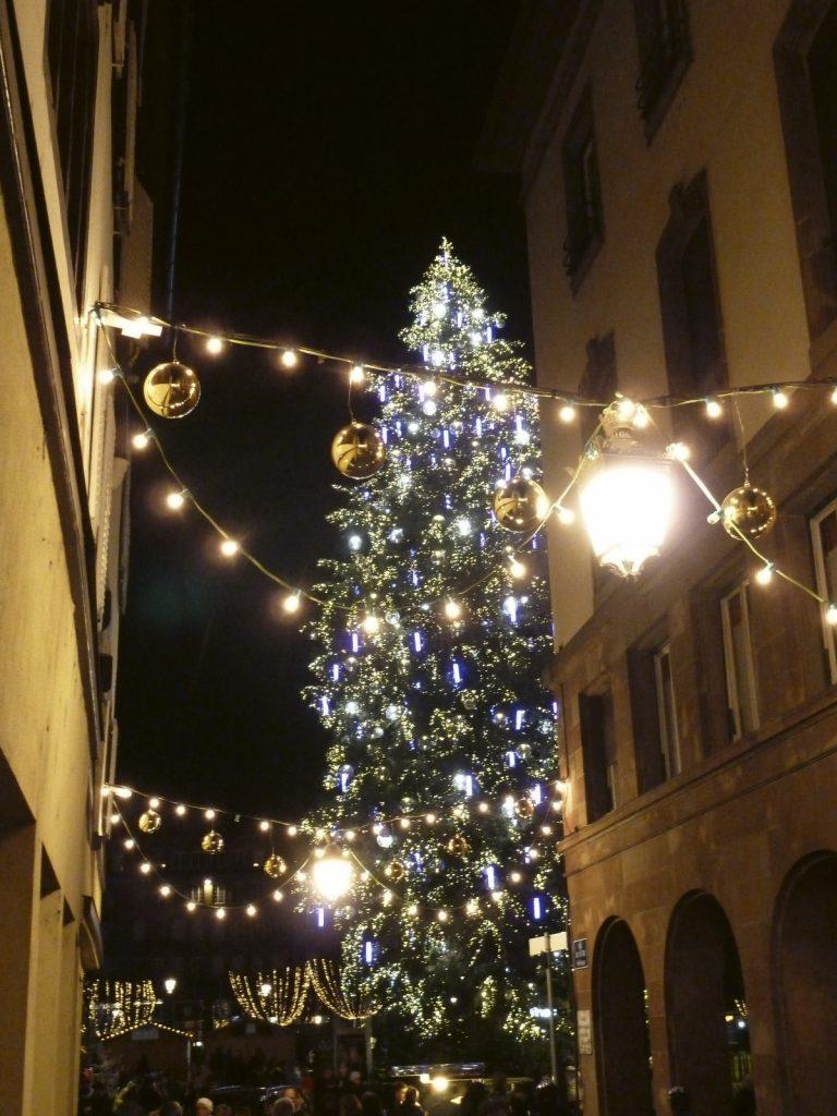 Le grand sapin de noël de la ville de Strasbourg